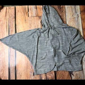 St John   dolman sleeve zip up hoodie